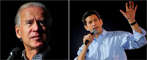 Joe Biden (left) will take on Paul Ryan (right) tonight and attempt to halt the Republican comeback