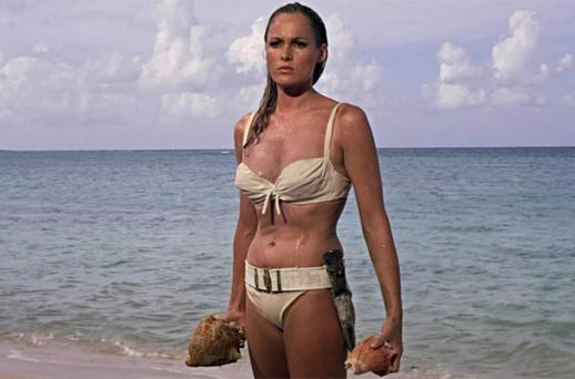 <p> <b>Ursula Andress as Honey Ryder</b><br/> <i>Dr No - 1962</i> </p>