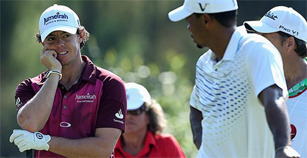 Rory McIlroy lost to Tiger Woods today