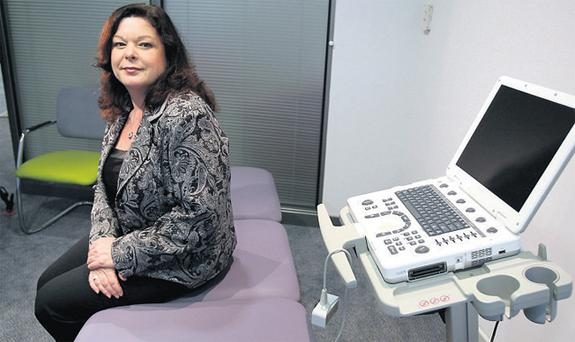 Dawn Purvis in a consultation room at the Belfast clinic