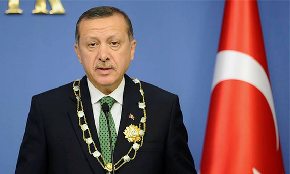 Recep Tayyip Erdogan made a fierce defence of Ankara's decision to intercept the plane as it flew over Turkey from Moscow as the diplomatic dispute between the three countries escalated.