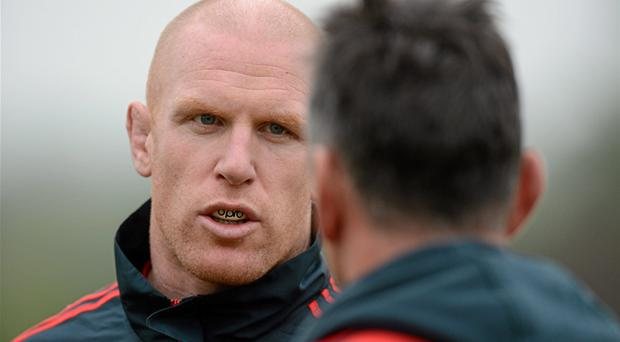 Paul O'Connell: in line for first start of the season tomorrow against Racing Metro in Paris