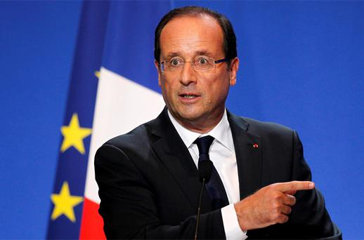 President Francois Hollande. Photo: Reuters