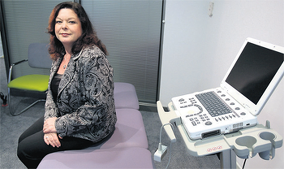 Dawn Purvis in a consultation room at the Belfast clinic.