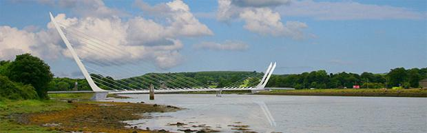 An artist's impression of the cross-border bridge to be built at Narrow Water