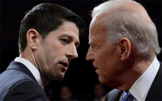 Paul Ryan, left, and Vice President Joe Biden