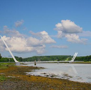 An artist's impression of a new cross-border bridge, which has been given the go-ahead in Northern Ireland (NI Department of Environment)