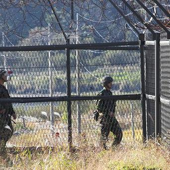 The border between North and South Korea is heavily guarded (AP)