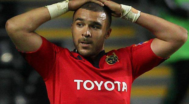 A dejected Simon Zebo after the final whistle against Ospreys. Photo: Sportsfile