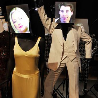 The exhibition includes costumes worn by Kate Hudson and John Travolta