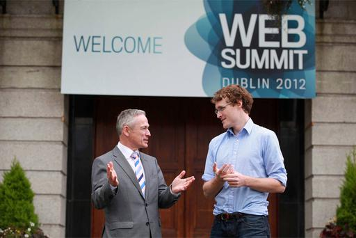 Minister for Jobs, Enterprise and Innovation Richard Bruton TD joined Paddy Cosgrave at the official opening of The Web Summit taking place at Dublin's RDS on the 17th & 18th October