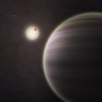 Artist's illustration of PH1, a planet with four suns discovered by volunteers from the planethunters citizen science project