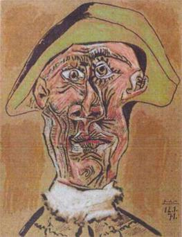 'Harlequin Head' by Pablo Picasso