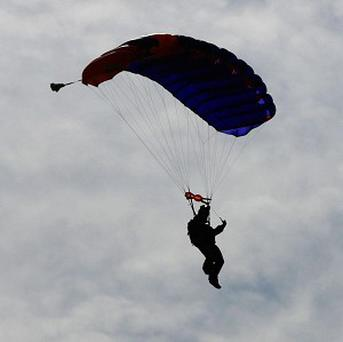 Liam Byrne had only just joined the Northumbria University Parachute Club when he got stuck in a tree on his first jump