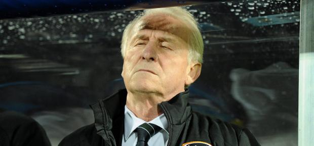 16 October 2012; Republic of Ireland manager Giovanni Trapattoni before the start of the game. 2014 FIFA World Cup Qualifier, Group C, Faroe Islands v Republic of Ireland, Torsvollur Stadium, Torshavn, Faroe Islands. Picture credit: David Maher / SPORTSFILE