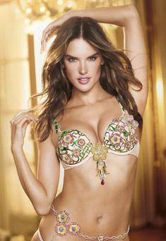 Alessandra Ambrosio models the 2012 'Fantasy Bra'. Photo: Russell James/Victoria's Secret