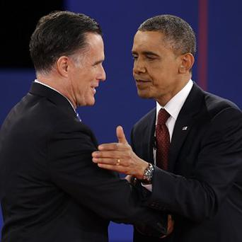 Barack Obama shakes hands with Republican presidential nominee Mitt Romney (AP/David Goldman)