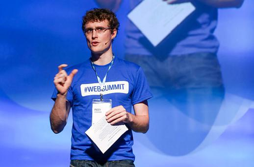 Paddy Cosgrave, Founder of Dublin Web Summit speaking on the main stage