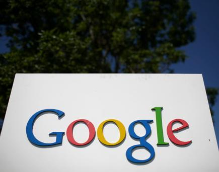 File - 18 OCTOBER, 2012: According to earnings reports that were released earlier than expected, Google earned $9.03 per share, less than the expected $10.63 earning per share. Google was also expected to make $11.9 billion in sales, making $11.3 billion for the third. MOUNTAIN VIEW, CA - JULY 17: A sign is displayed outside of the Google headquarters July 17, 2008 in Mountain View, California. Google Inc. is expected to announce an increase in quarterly profits when it reports its quarterly earnings today after the closing bell. (Photo by Justin Sullivan/Getty Images)