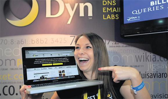 At the summit were Mel Challis from DYN, an internet infrastructure service provider