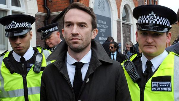 Trenton Oldfield outside the court today. Photo: PA