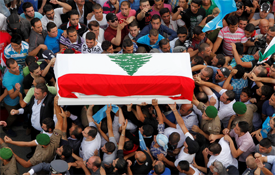 The violence began at the end of what had been billed as a protest against Syrian meddling in Lebanon, focused on Prime Minister Najib Mikati, who is seen as an ally of Damascus.