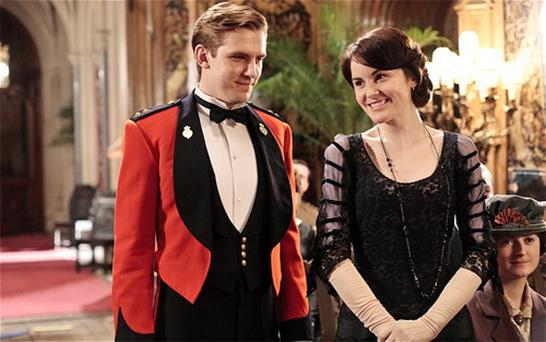 Dan Stevens and Michelle Dockery play Matthew Crawley and Lady Mary Photo: ITV