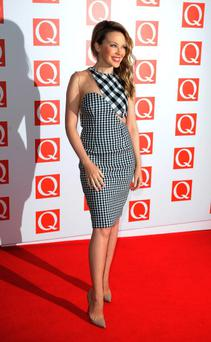 LONDON, ENGLAND - OCTOBER 22: Kylie Minogue attends the Q Awards at Grosvenor House, on October 22, 2012 in London, England. (Photo by Ferdaus Shamim/WireImage)