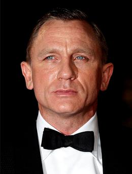 Daniel Craig looked very grey at the premiere