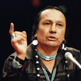 Russell Means featured in The Last Of The Mohicans and Natural Born Killers (AP)
