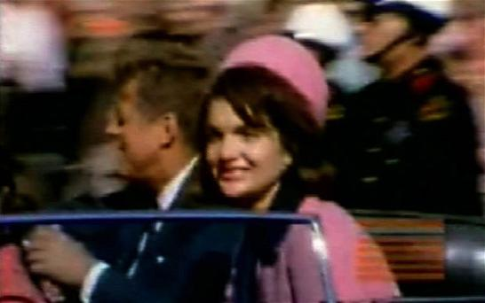 Death in Dallas: Jack and Jackie Kennedy moments before the President was shot Photo: AP