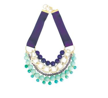 Purple agate necklace, €195, Clare Hynes