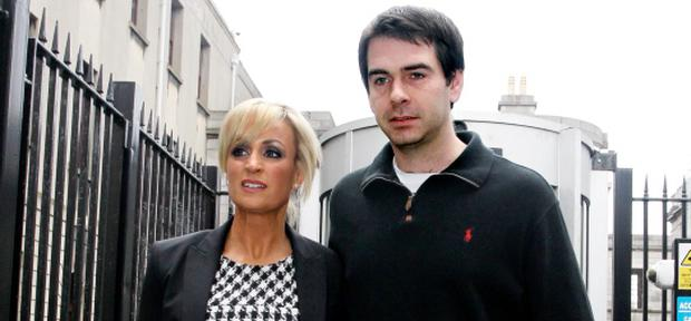 QUINN;( SEAN Jnr); SON of BANKRUPT BUSINESSMAN, SEAN QUINN -FREED AFTER SERVING HIS TIME FOR CONTEMPT OF COURT , HIGH COURT, DUBLIN, ( 19/10/12)****see Hi Ct story.PIC SHOWS: FREE AT LAST ! SON of SEAN QUINN, BANKRUPT BUSINESSMAN, SEAN QUINN Jnr., and HIS WIFE, KAREN WOODS, LEAVING COURT YESTERDAY ( FRI) AFTER THE HEARING.(PIC: COURTPIX.)