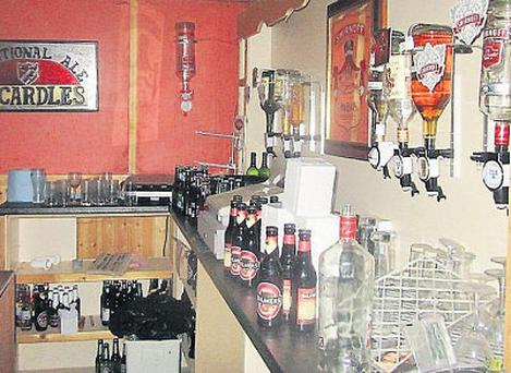 A shebeen which was found on the same site as a fuel laundering plant in Co Louth