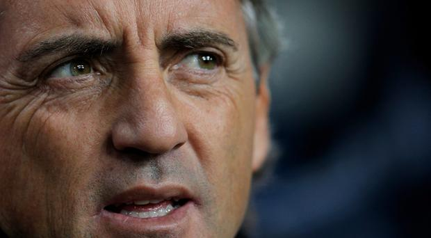 Tinkerman: Roberto Mancini has accepted the blame for Manchester City's defeat