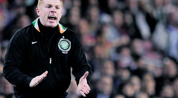 Neil Lennon and his Celtic side were battered and bruised after their clash with Barcelona at the Nou Camp but spirits at the club remain high
