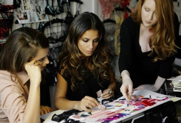 Monica and Penelope Cruz working on their collection. Photo: Agent Provocateur