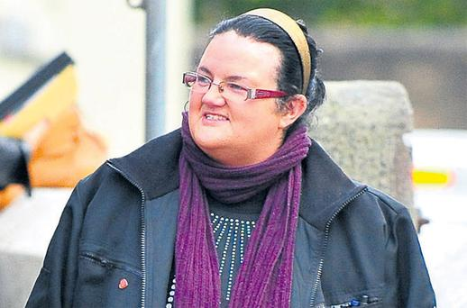 Patricia McCafferty leaving Donegal town courthouse, after an Employment Appeals Tribunal heard her case against her former employer, Bundoran Town Council