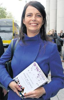 Melanie Verwoerd outside the High Court in Dublin after the ruling