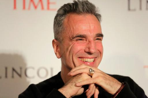 Daniel Day Lewis speaks on stage at the TIME's screening of Lincoln and Q & A on October 25, in New York City.