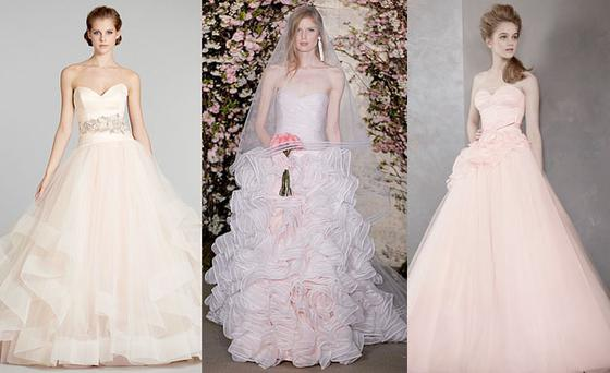 More brides are deciding to to think pink on their wedding day