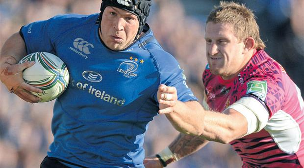 Richardt Strauss in actio for Leinster