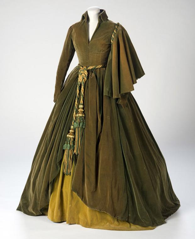 The infamous green curtain dress. Photo: AP
