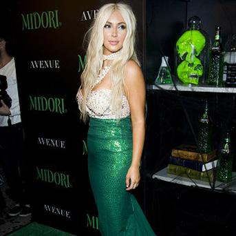 Kim Kardashian hosted the 2nd Annual Midori Green Halloween Party in New York