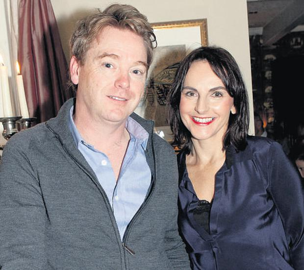 David McWilliams with wife Sian Smyth at the launch of his new book 'The Good Room'