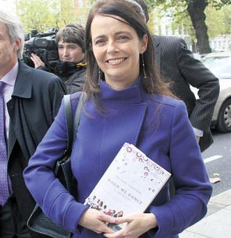 Gerry Ryan's former partner Melanie Verwoerd with a copy of her recently published autobiography, 'When We Dance'