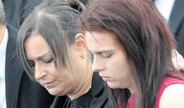 Erin Gallagher's mother Lorraine and sister Shannon