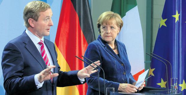 Taoiseach Enda Kenny and German Chancellor Angela Merkel