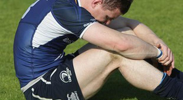 Brian O'Driscoll was forced off during Leinster's thrashing of Cardiff Blues