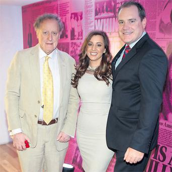 At the launch of 2012 TV3 autumn schedule were Vincent Browne, Sinead Desmond and Alan Cantwell